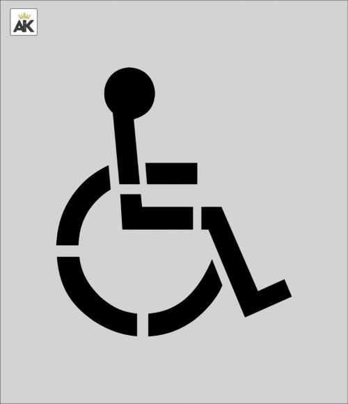 12 Inch Handicap Stencil