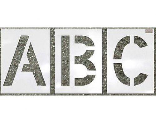 Heavy Duty Commercial Alphabet Stencil Kit