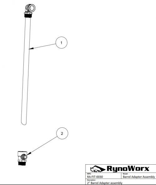 Barrel Spray System Barrel Adaptor Assembly Parts