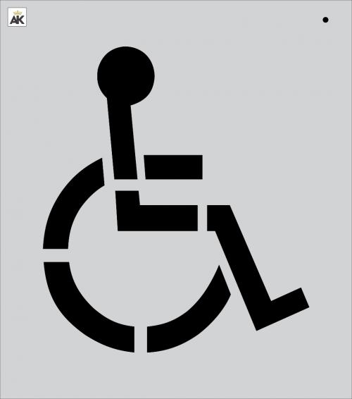 21.5 Handicap Stencil