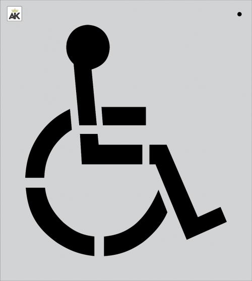28 Handicap Stencil for Paving