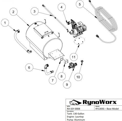 AK130 Spray System, Launtop Engine, Aluminum Pump Parts