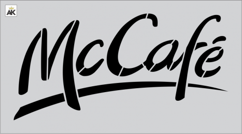 McDonald's Mc Café Stencil 2' X 4'