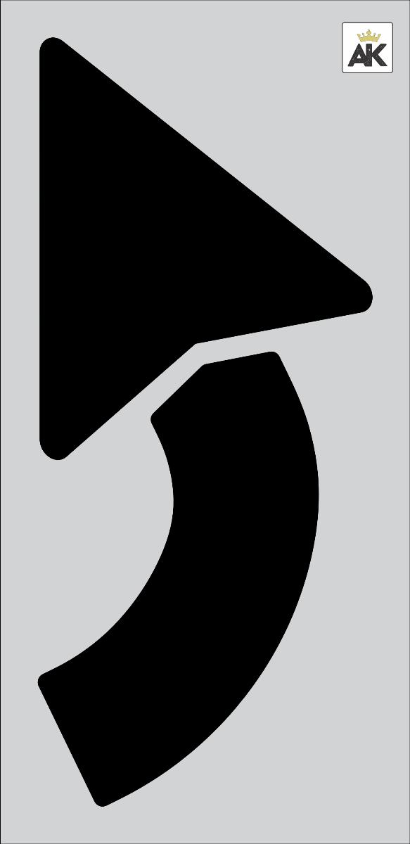 "62"" TURN ARROW Stencil"