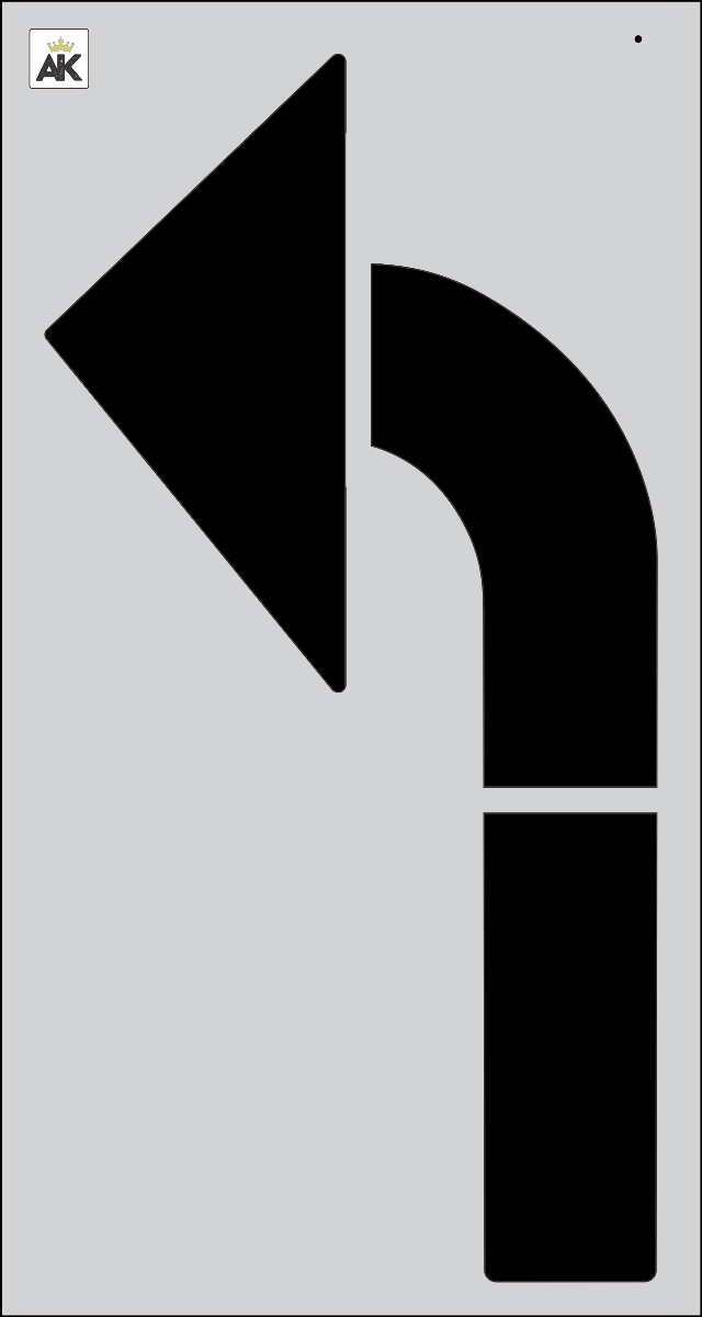 "84"" TURN ARROW Stencil"