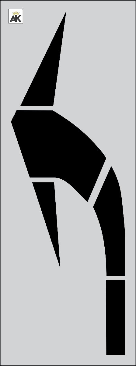 """96"""" FHWA/DOT Elongated Turn Arrow Stencil"""