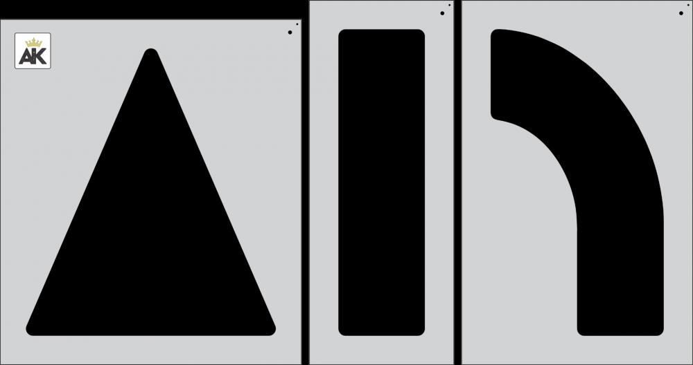 "42"" ARROW COMBO KIT Stencil"