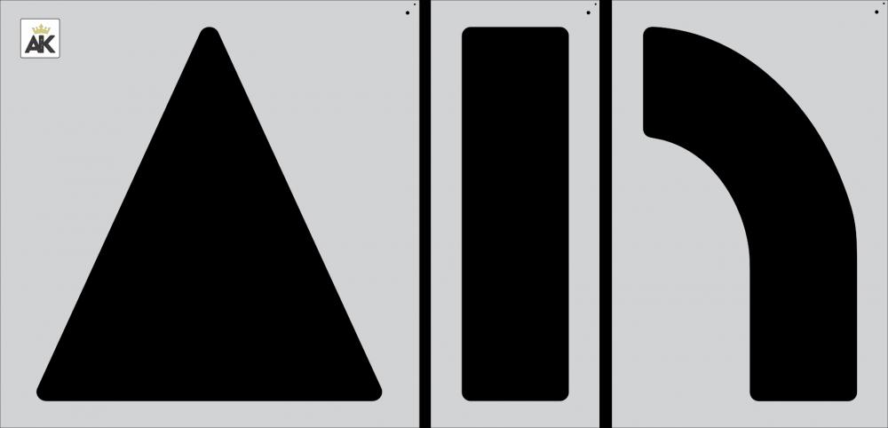 "84"" ARROW COMBO KIT Stencil"