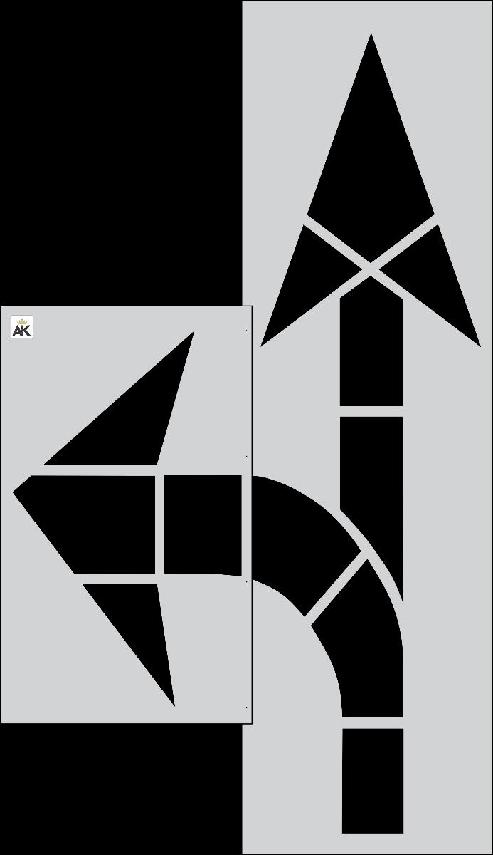 FHWA/DOT Combo Arrow Stencil