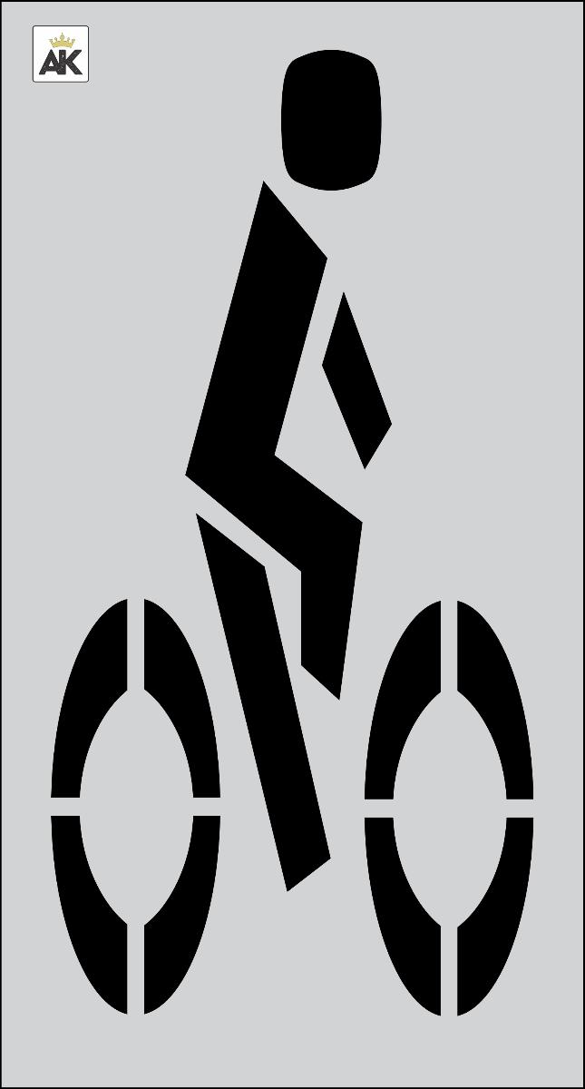 "48"" FHWA/DOT Bike Rider Stencil"