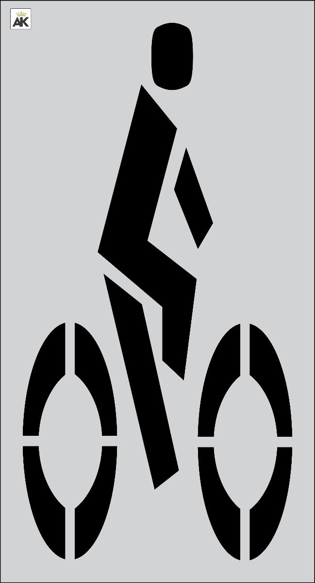 "72"" FHWA/DOT Bike Rider Stencil"