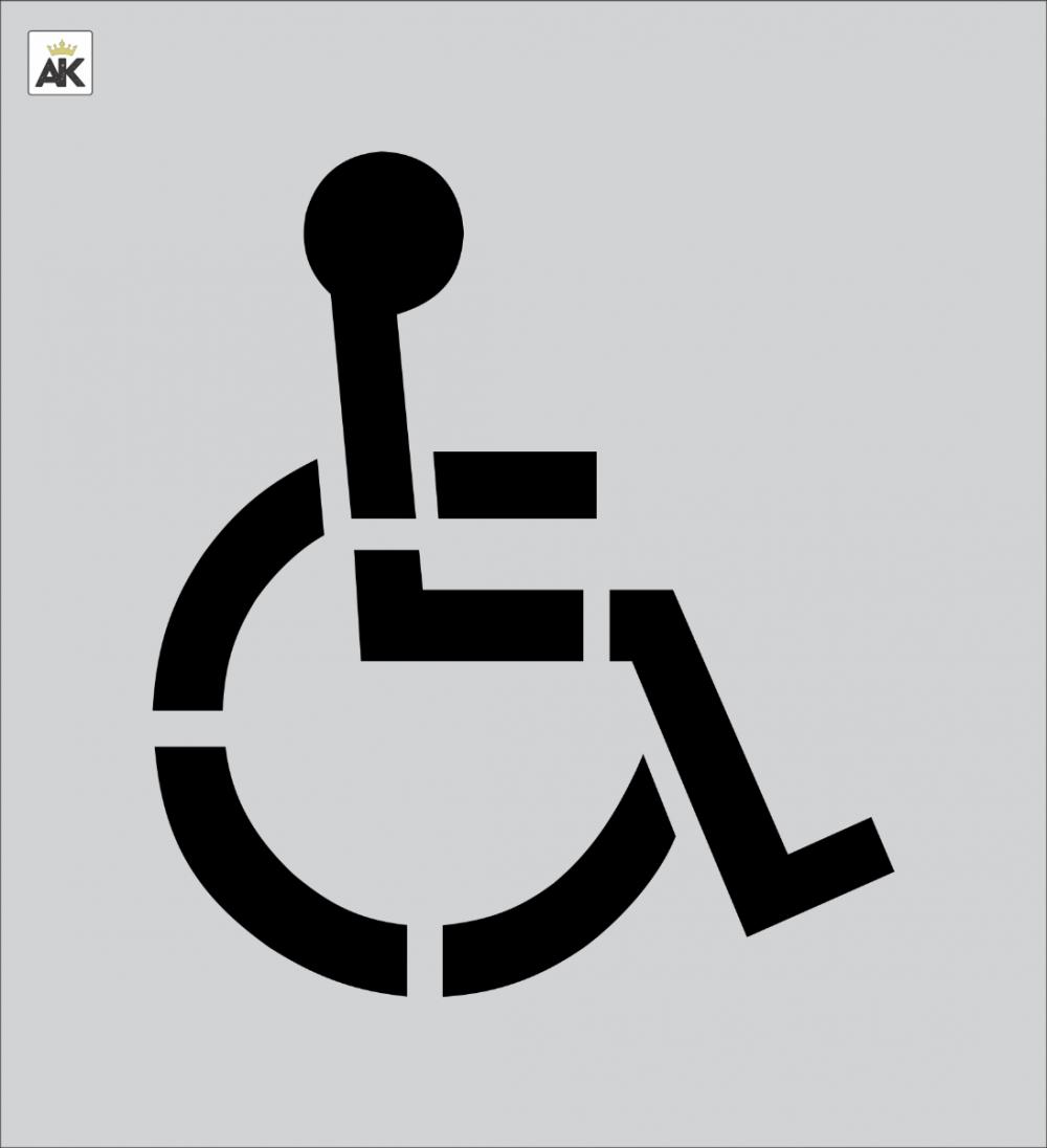 """15"""" Handicap Stencil for Pavement Marking"""