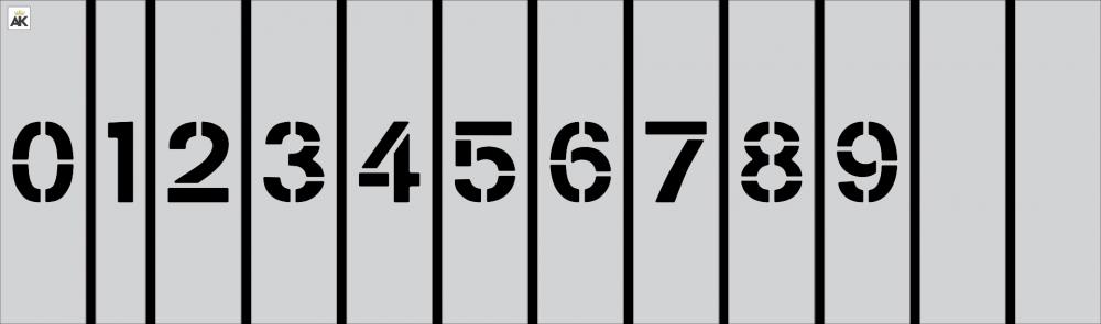 "3"" Number Kit Stencil"