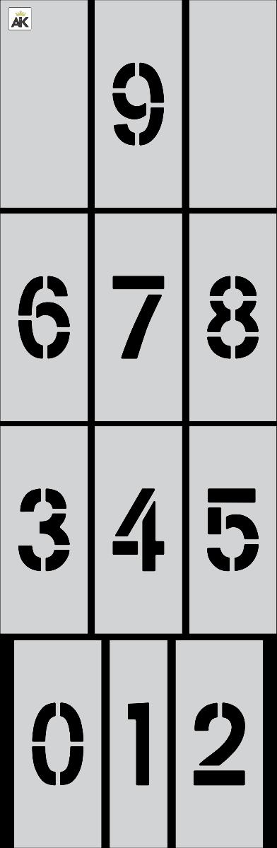 "4"" Number Kit Stencil"