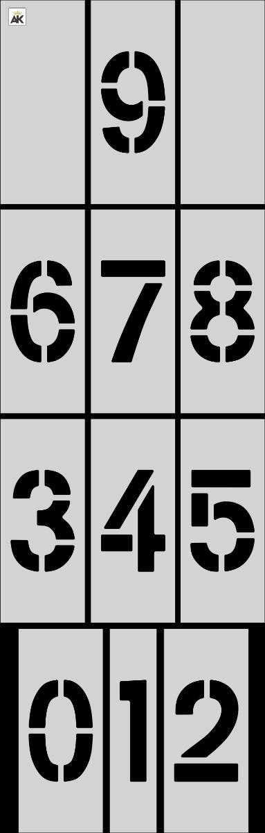 "5"" Number Kit Stencil"
