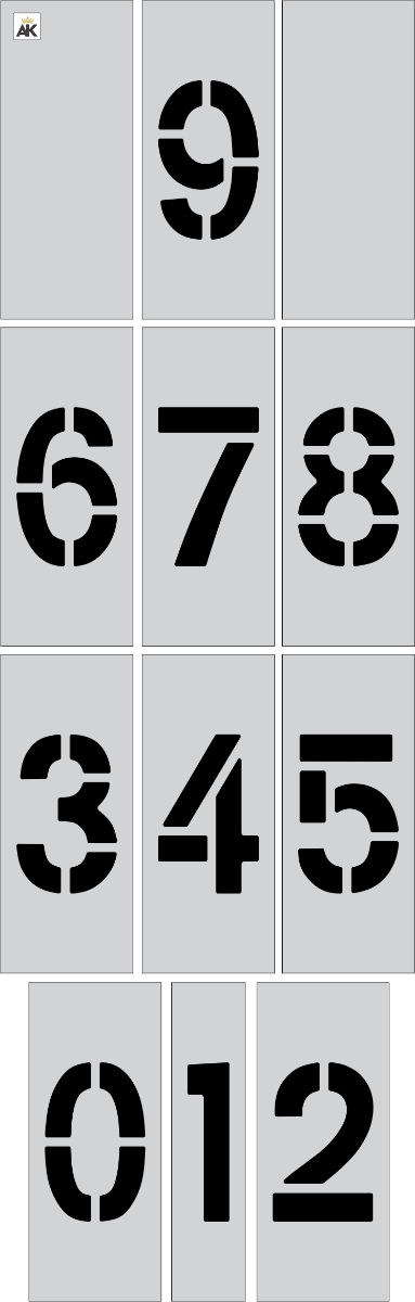 "6"" Number Kit Stencil"