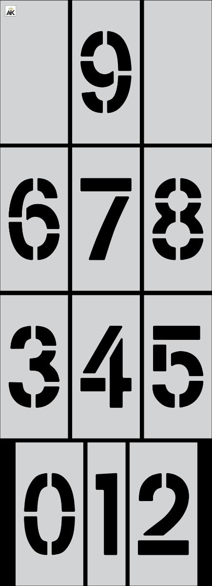 "8"" Number Kit Stencil"
