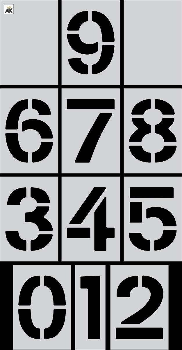 "12"" Number Kit Stencil"