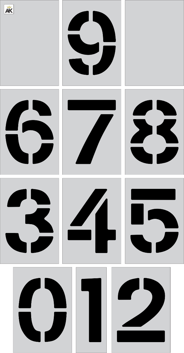 "15"" Number Kit Stencil"