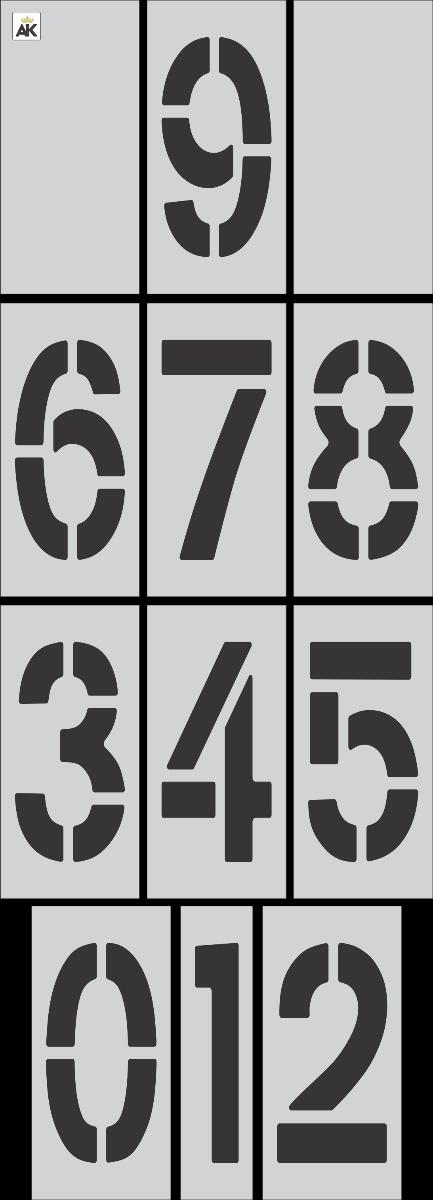 """18"""" x 9"""" Number Kit Stencil"""