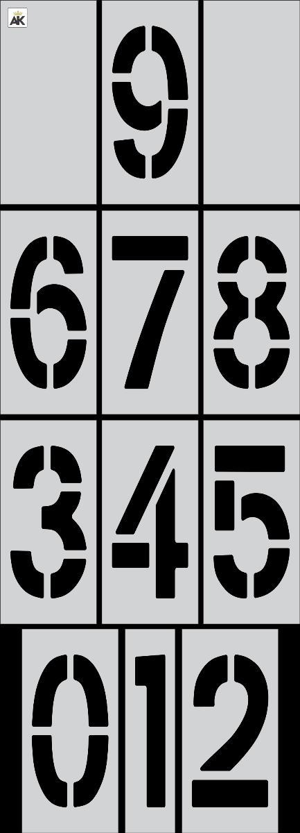 """24""""x9"""" Number Kit Stencil"""