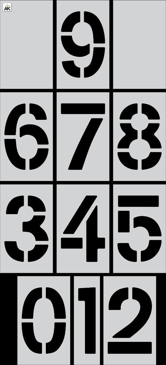 """18"""" x 12"""" Number Kit Stencil"""