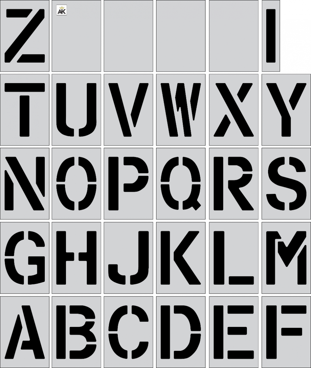 "10"" Alphabet Kit Stencil"