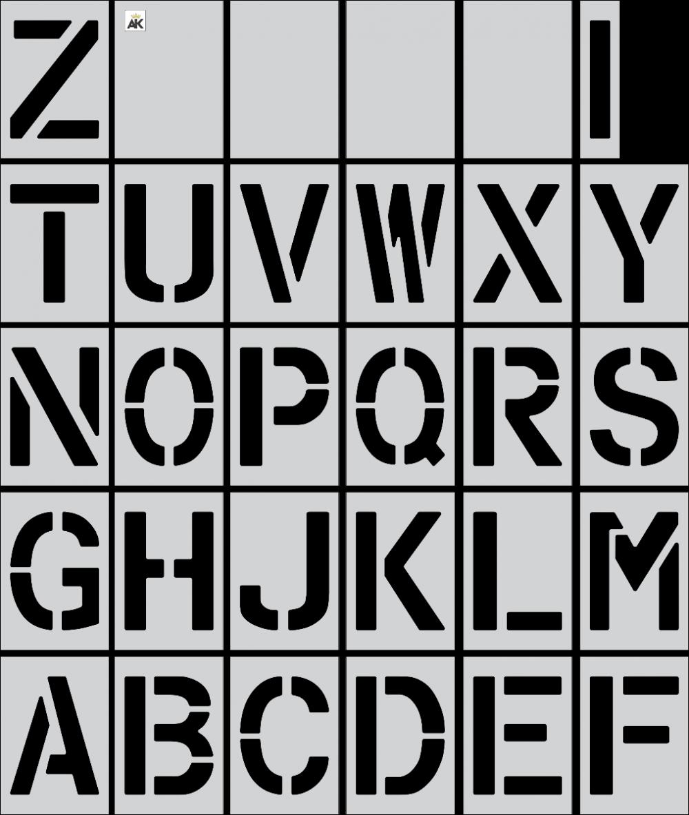 "12"" Alphabet Kit Stencil"