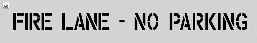 "4"" Fire Lane - No Parking Stencil"
