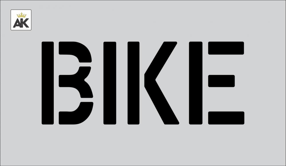 "6"" BIKE Stencil"