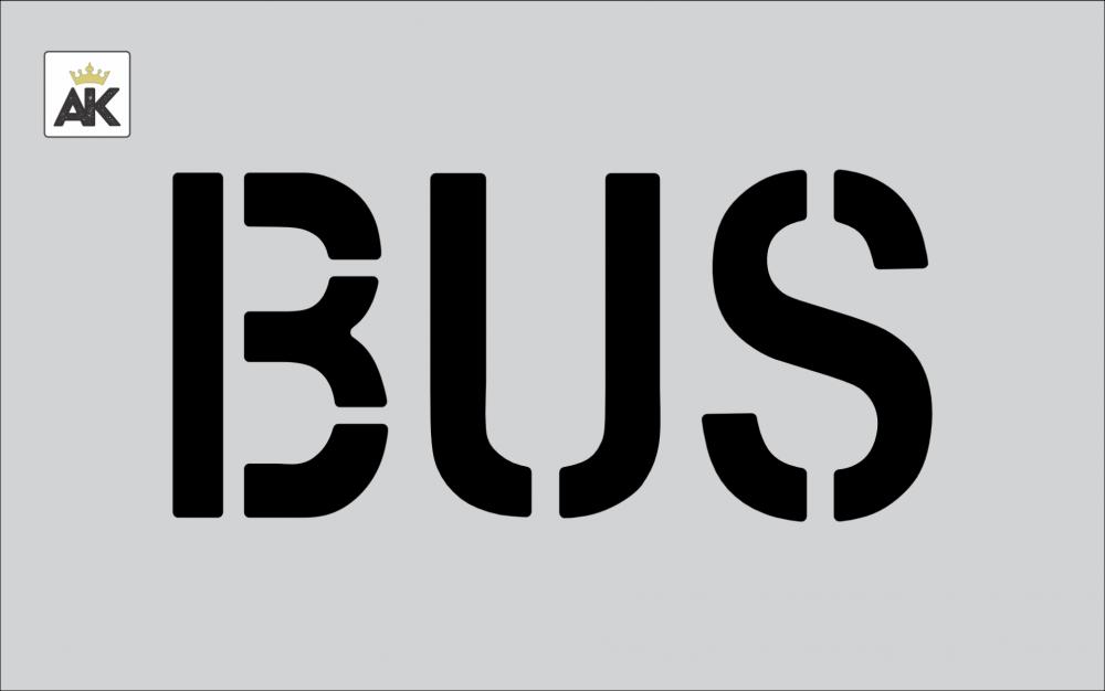 """6"""" BUS Stencil"""