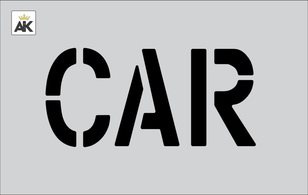 """6"""" Car Stencil"""
