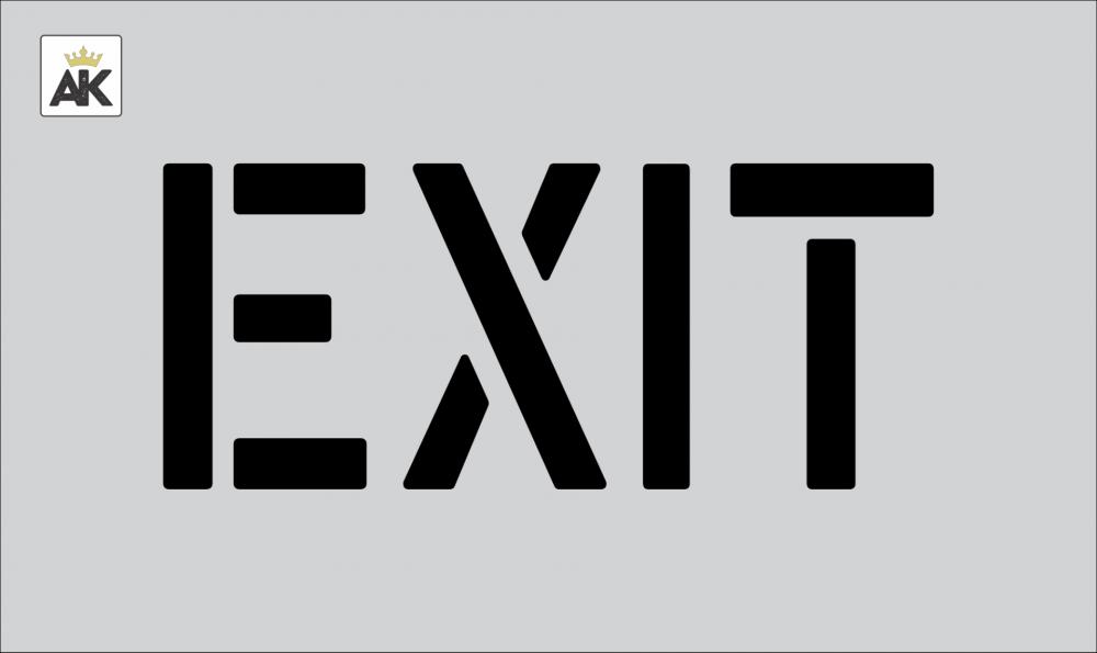 """6"""" EXIT Stencil"""