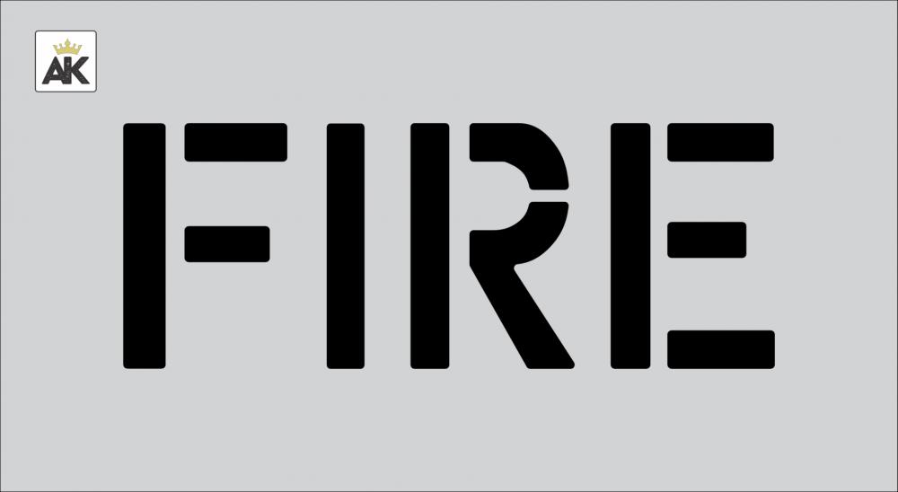 """6"""" FIRE Stencil"""