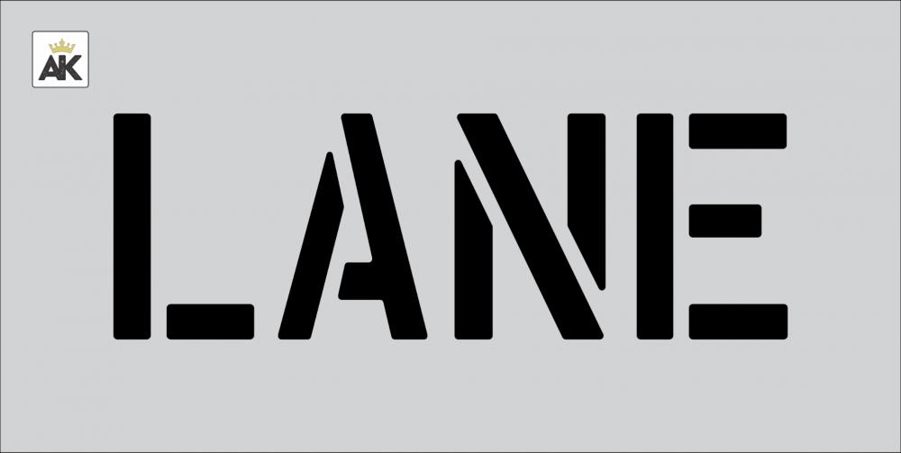 """6"""" LANE Stencil"""