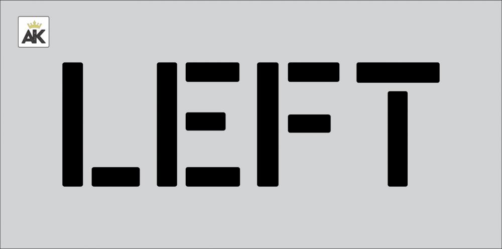 """6"""" LEFT Stencil"""