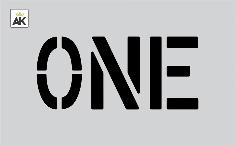 """6"""" ONE Stencil"""