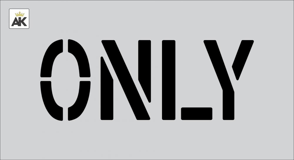 "6"" ONLY Stencil"