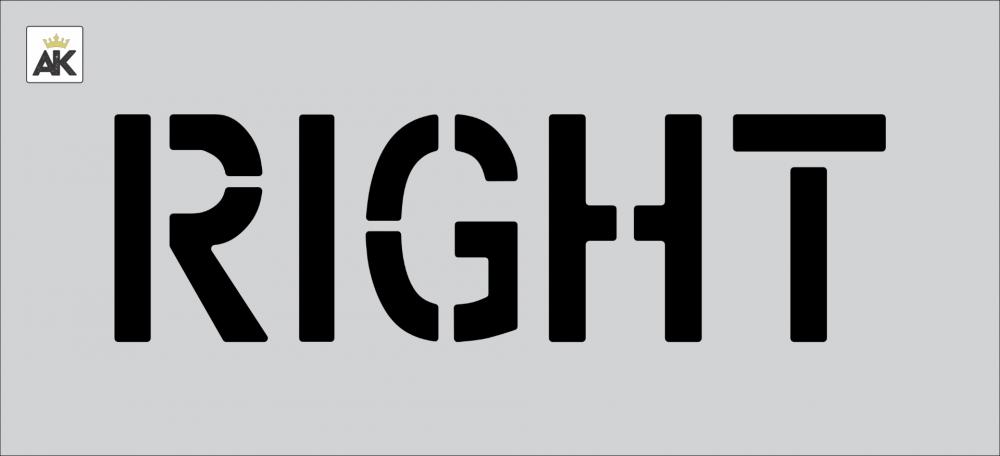 """6"""" RIGHT Stencil"""