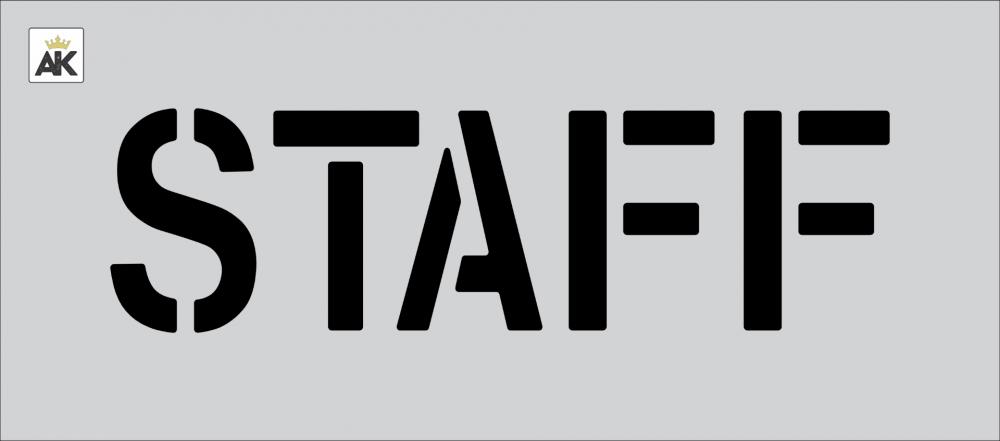 """6"""" STAFF Stencil"""