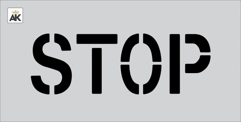 "6"" STOP Stencil"