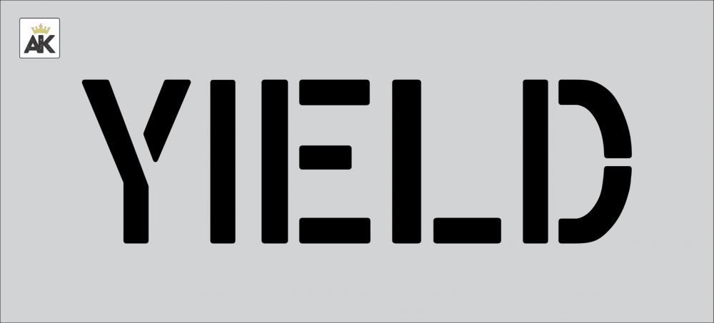"6"" YIELD Stencil"