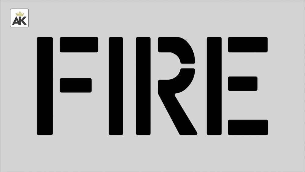 """8"""" FIRE Stencil"""
