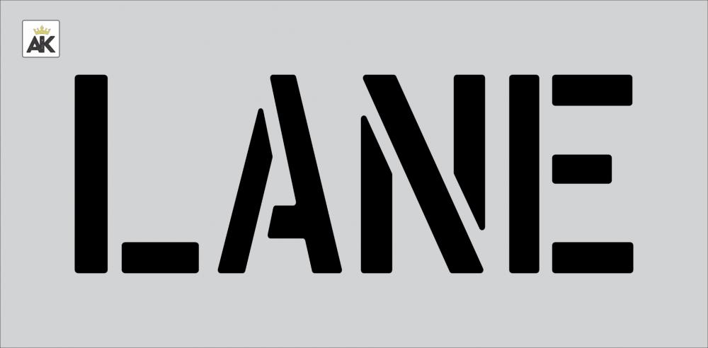 """8"""" LANE Stencil"""