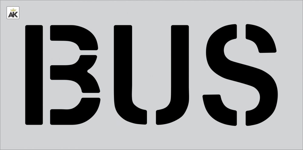 """12"""" BUS Stencil"""