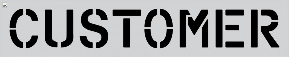 "12"" CUSTOMER Stencil"