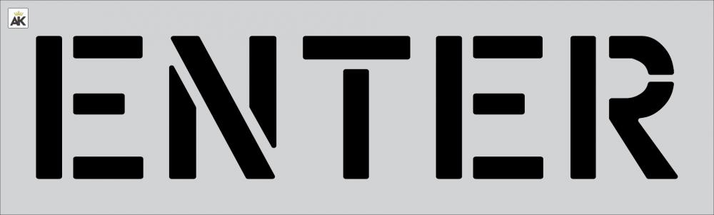 """12"""" ENTER Stencil"""