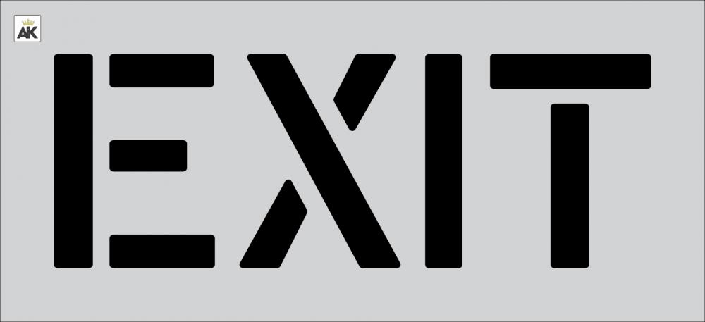 """12"""" EXIT Stencil"""