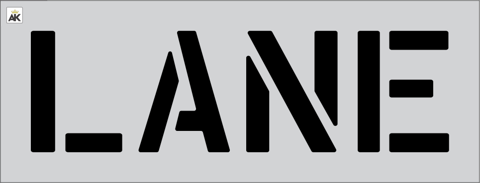 """12"""" LANE Stencil"""