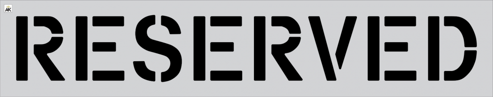 "12"" RESERVED Stencil"